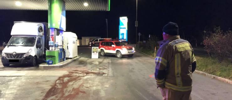 Dieselspur OMV-Tankstelle