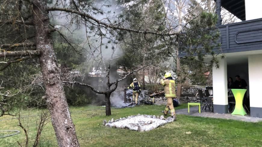 Brand Komposthaufen